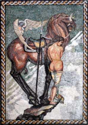 Horse and Goddess Mosaic
