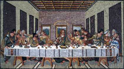 The Last Supper Religious Wall Mosaic