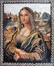 Mona Lisa Portrait Vertical Mosaic