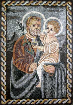 St. Joseph & the Christ Child Religious Mosaic