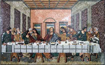 The Last Supper Detailed Religious  Mosaic