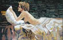 Nude Lady in Nature Model Marble Mosaic FG309