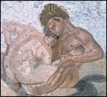 Satyr and Nymph (Pompeii ) Mosaic