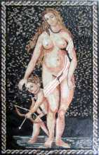 Nude Venus and Cherub Mosaic