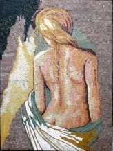 Blonde Nude Art Mosaic