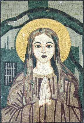 The Virgin Mary Simple Religious Mosaic