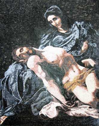 Pieta (Pity) by Annibale Carracci Religious Mosaic