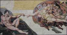 The Creation of Adam Mosaic
