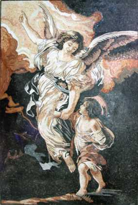 The Guardian Angel Pietro Da Cortona Religious Mosaic