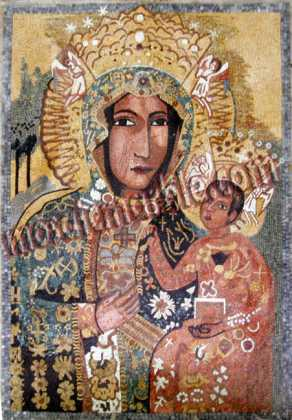 Our Lady of Czestochowa Byzantine Religious Mosaic