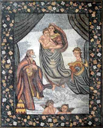 The Sistine Madonna by Raphael Wall Mosaic