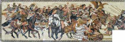 The Alexander Battle of Issus Roman Mosaic