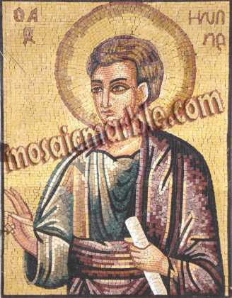 Saint Philip the Apostle Religious Byzantine Mosaic