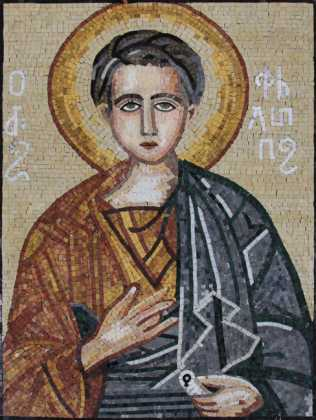 Saint Thomas the Apostle Byzantine Religious Mosaic