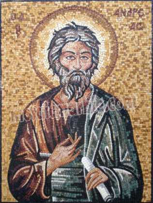 Saint Andrew the Apostle Byzantine Greek Mosaic
