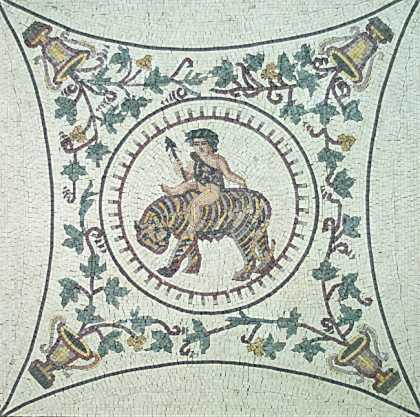 FG67 Dyonisus Riding the Tiger Mosaic