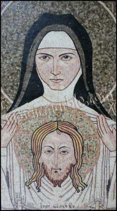 The Veil of St. Veronica Religious Mosaic