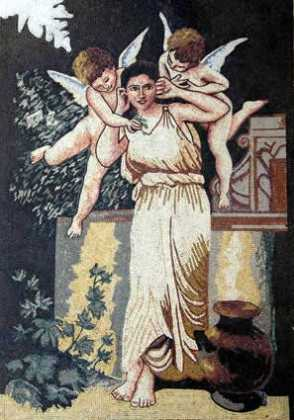 Goddess with Cherubs Mosaic