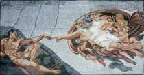FG784 Recreation Painting Creation of Adam God