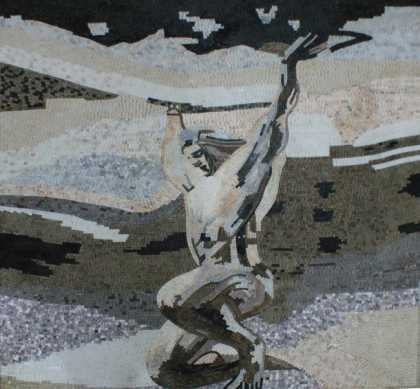 Nude Statue Mosaic