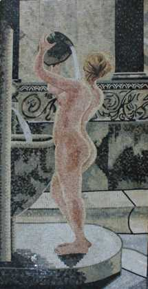 Nude Lady Bathing Mosaic
