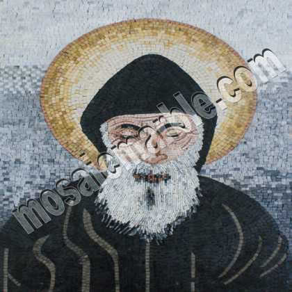 Saint Sharbel Icon Religious Mosaic