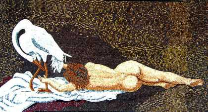 Nude with Heron Mosaic