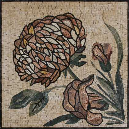 Flower illustration square Mosaic