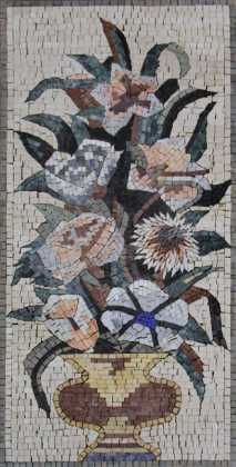 Rich royal flower floral vase mural art  Mosaic