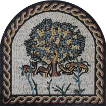 Tree of Life Arched Decor Mosaic