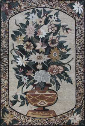 FL913 Vertical Bouquet in Vase Mosaic