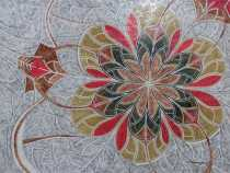 FL957P Exquisite Artsitc Polished Flower Wall Marble Mosaic