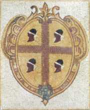 Flag of the Four Moors Sardinia Mosaic