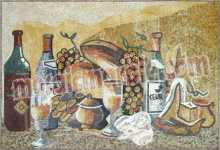 GEO1556 Handmade fruits and wine kitchen mosaic