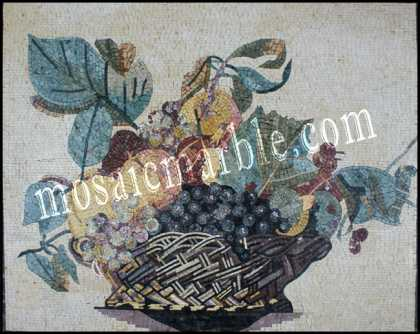 Fruit Basket Kitchen Backsplash Mosaic