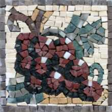 Large Grapes Still Life Kitchen Backsplash Mosaic