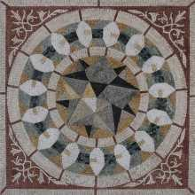 Cubic Star Square Wall or Floor Tile Art Mosaic