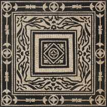 Black & White Royal Geometric Square Wall  Mosaic