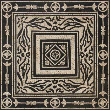 Black & White Royal Geometric Square Wall