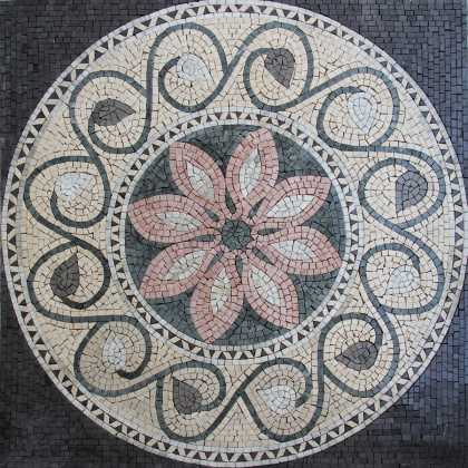 Black Contrast Garden Decor Mosaic