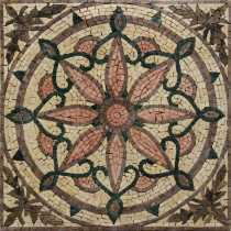GEO2702 Abstract Lotus Compass Inlay Handmade  Mosaic