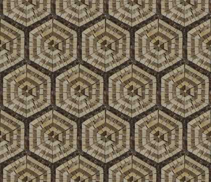 GEO2704 Repetitive Hexagon Pattern Tile  Mosaic