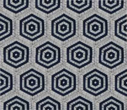 GEO2706 Repetitive Hexagon Pattern Tile  Mosaic