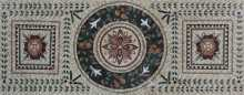 Ancient Floral Rug Design Mosaic