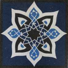 Islamic Oriental Blue Design Square Mosaic
