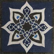 Islamic Arabesque Design Square Floor  Mosaic