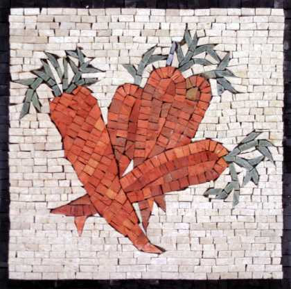 Orange Carrots Kitchen Backsplash Mosaic