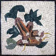 Large Fruit & Leaves Square Backsplash Mosaic