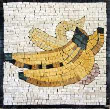 Yellow Bananas Square Kitchen Backsplash Mosaic