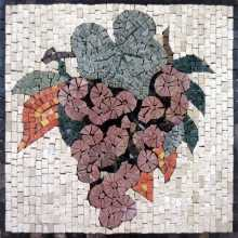 Large Purple Grapes Kitchen Backsplash Mosaic